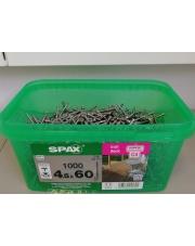 WKRĘTY TARASOWE SPAX WIROX 4,5x60 mm srebrne (1000)