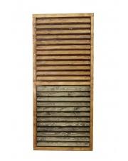 Żaluzje Tarasowe - Ruchome lamelki orzech /palisander 80x200