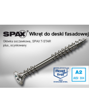 Wkręty Spax 4,5x50 A2TX(200) podw.gwint.stoż.